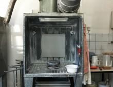 Glasurspritzkabine / Saalewürfel / Designcampus