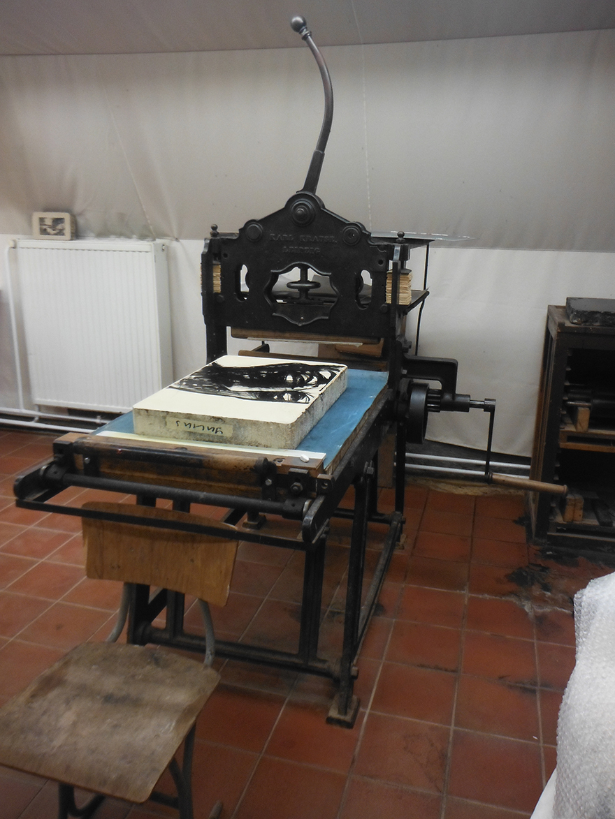Lithographiepresse