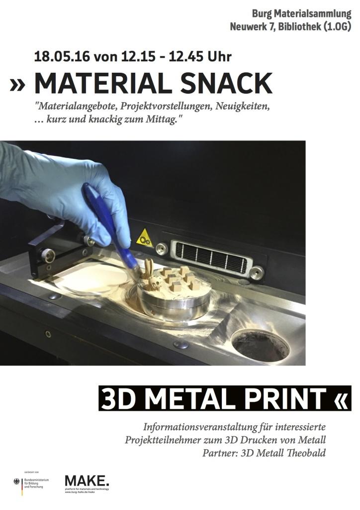 Plakat 3D Metall