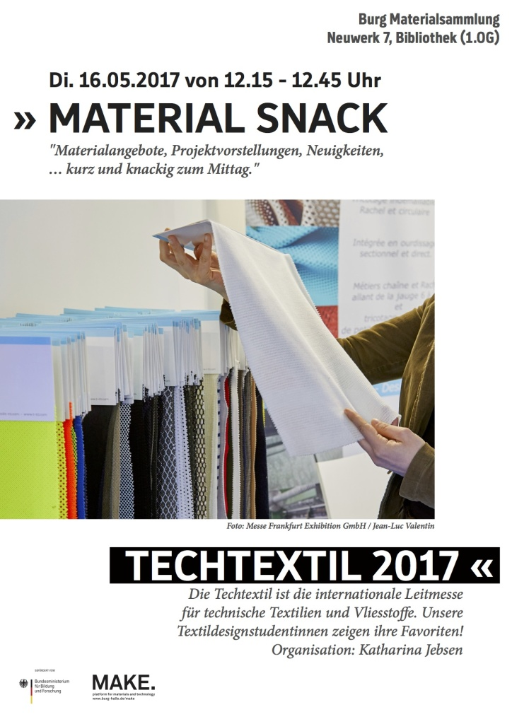 MATERIAL SNACK TECHTEXTIL 16-05-2017