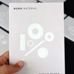 Burg Material –100% Paper
