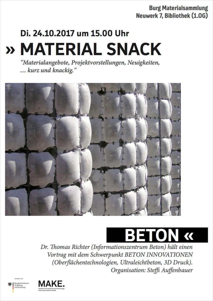 MATERIAL SNACK BETON